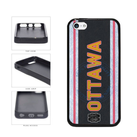 Hockey Team Hashtag Ottawa #Ottawa TPU Rubber SILICONE Phone Case Back Cover For Apple iPhone 5c includes BleuReign(TM) Cloth and Warranty Label