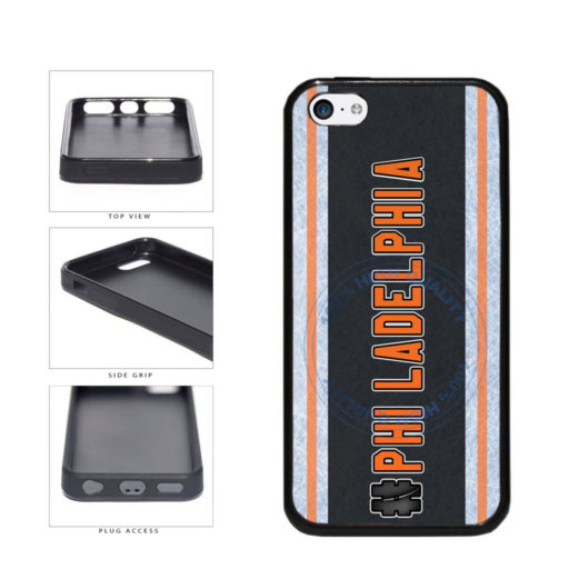 Hockey Team Hashtag Philadelphia #Philadelphia TPU Rubber SILICONE Phone Case Back Cover For Apple iPhone 5c includes BleuReign(TM) Cloth and Warranty Label