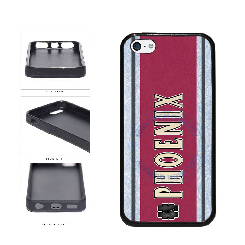 Hockey Team Hashtag Phoenix #Phoenix TPU Rubber SILICONE Phone Case Back Cover For Apple iPhone 5c includes BleuReign(TM) Cloth and Warranty Label