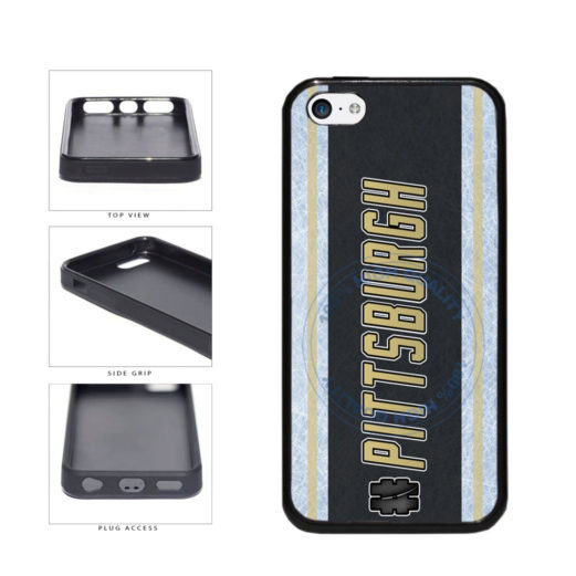 Hockey Team Hashtag Pittsburgh #Pittsburgh TPU Rubber SILICONE Phone Case Back Cover For Apple iPhone 5c includes BleuReign(TM) Cloth and Warranty Label