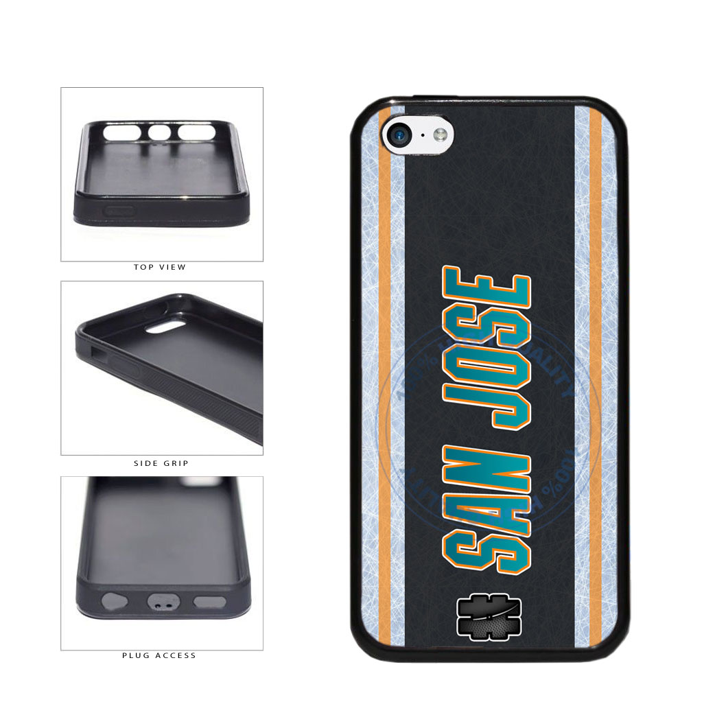 Hockey Team Hashtag San Jose #SanJose TPU Rubber SILICONE Phone Case Back Cover For Apple iPhone 5c includes BleuReign(TM) Cloth and Warranty Label