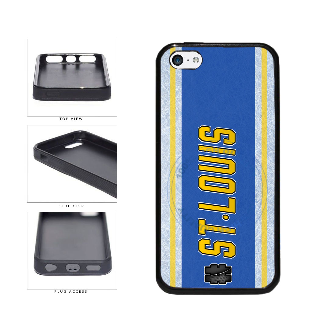 Hockey Team Hashtag St Louis #StLouis TPU Rubber SILICONE Phone Case Back Cover For Apple iPhone 5c includes BleuReign(TM) Cloth and Warranty Label