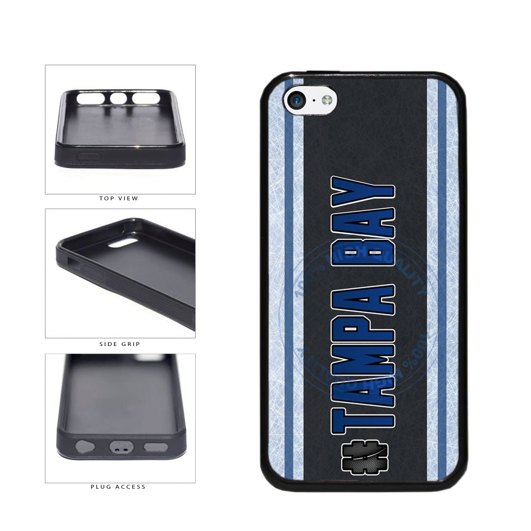 Hockey Team Hashtag Tampa Bay #TampaBay TPU Rubber SILICONE Phone Case Back Cover For Apple iPhone 5c includes BleuReign(TM) Cloth and Warranty Label