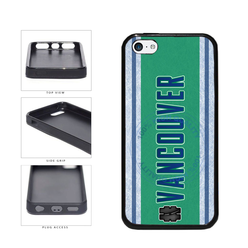 Hockey Team Hashtag Vancouver #Vancouver TPU Rubber SILICONE Phone Case Back Cover For Apple iPhone 5c includes BleuReign(TM) Cloth and Warranty Label