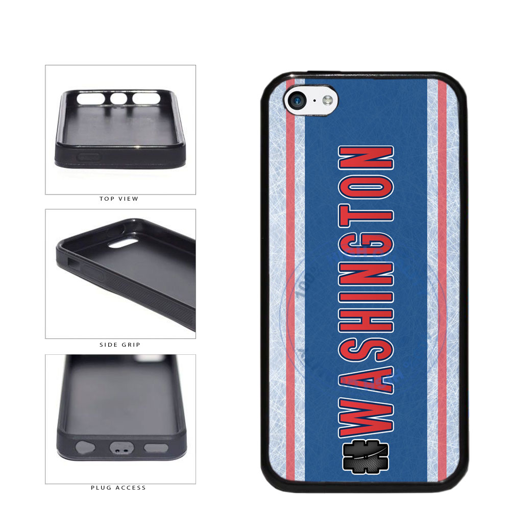 Hockey Team Hashtag Washington #Washington TPU Rubber SILICONE Phone Case Back Cover For Apple iPhone 5c includes BleuReign(TM) Cloth and Warranty Label