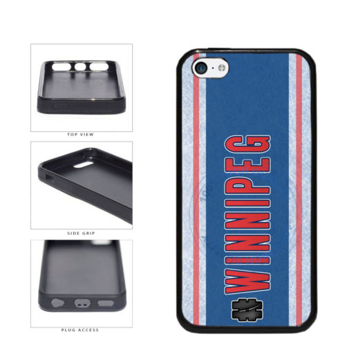 Hockey Team Hashtag Winnipeg #Winnipeg TPU Rubber SILICONE Phone Case Back Cover For Apple iPhone 5c includes BleuReign(TM) Cloth and Warranty Label