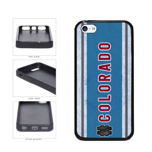Hockey Team Hashtag Colorado #Colorado TPU Rubber SILICONE Phone Case Back Cover For Apple iPhone 5c includes BleuReign(TM) Cloth and Warranty Label