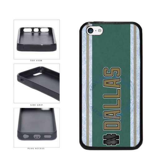 Hockey Team Hashtag Dallas #Dallas TPU Rubber SILICONE Phone Case Back Cover For Apple iPhone 5c includes BleuReign(TM) Cloth and Warranty Label
