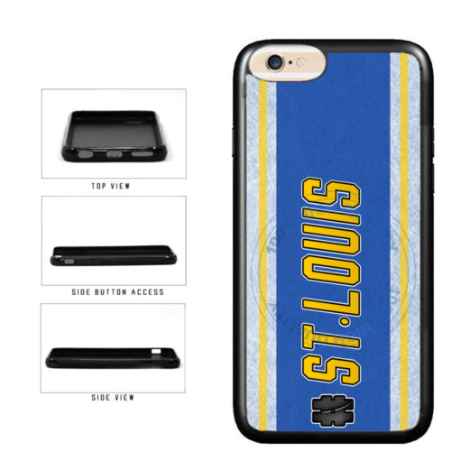 Hockey Team Hashtag St Louis #StLouis TPU Rubber SILICONE Phone Case Back Cover For Apple iPhone 6 6s (4.7 Inches Screen) includes BleuReign(TM) Cloth and Warranty Label