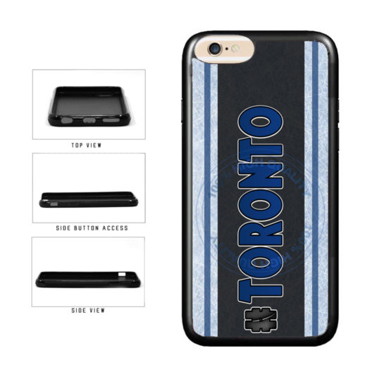 Hockey Team Hashtag Toronto #Toronto TPU Rubber SILICONE Phone Case Back Cover For Apple iPhone 6 6s (4.7 Inches Screen) includes BleuReign(TM) Cloth and Warranty Label