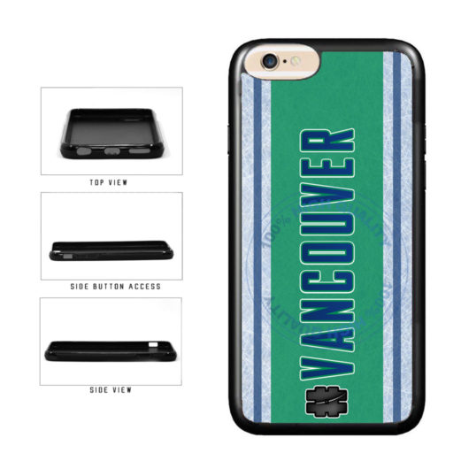 Hockey Team Hashtag Vancouver #Vancouver TPU Rubber SILICONE Phone Case Back Cover For Apple iPhone 6 6s (4.7 Inches Screen) includes BleuReign(TM) Cloth and Warranty Label