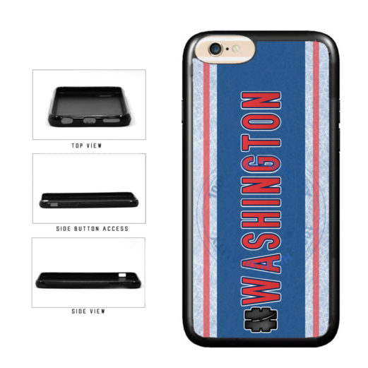Hockey Team Hashtag Washington #Washington TPU Rubber SILICONE Phone Case Back Cover For Apple iPhone 6 6s (4.7 Inches Screen) includes BleuReign(TM) Cloth and Warranty Label