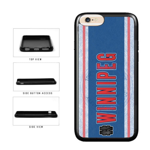Hockey Team Hashtag Winnipeg #Winnipeg TPU Rubber SILICONE Phone Case Back Cover For Apple iPhone 6 6s (4.7 Inches Screen) includes BleuReign(TM) Cloth and Warranty Label