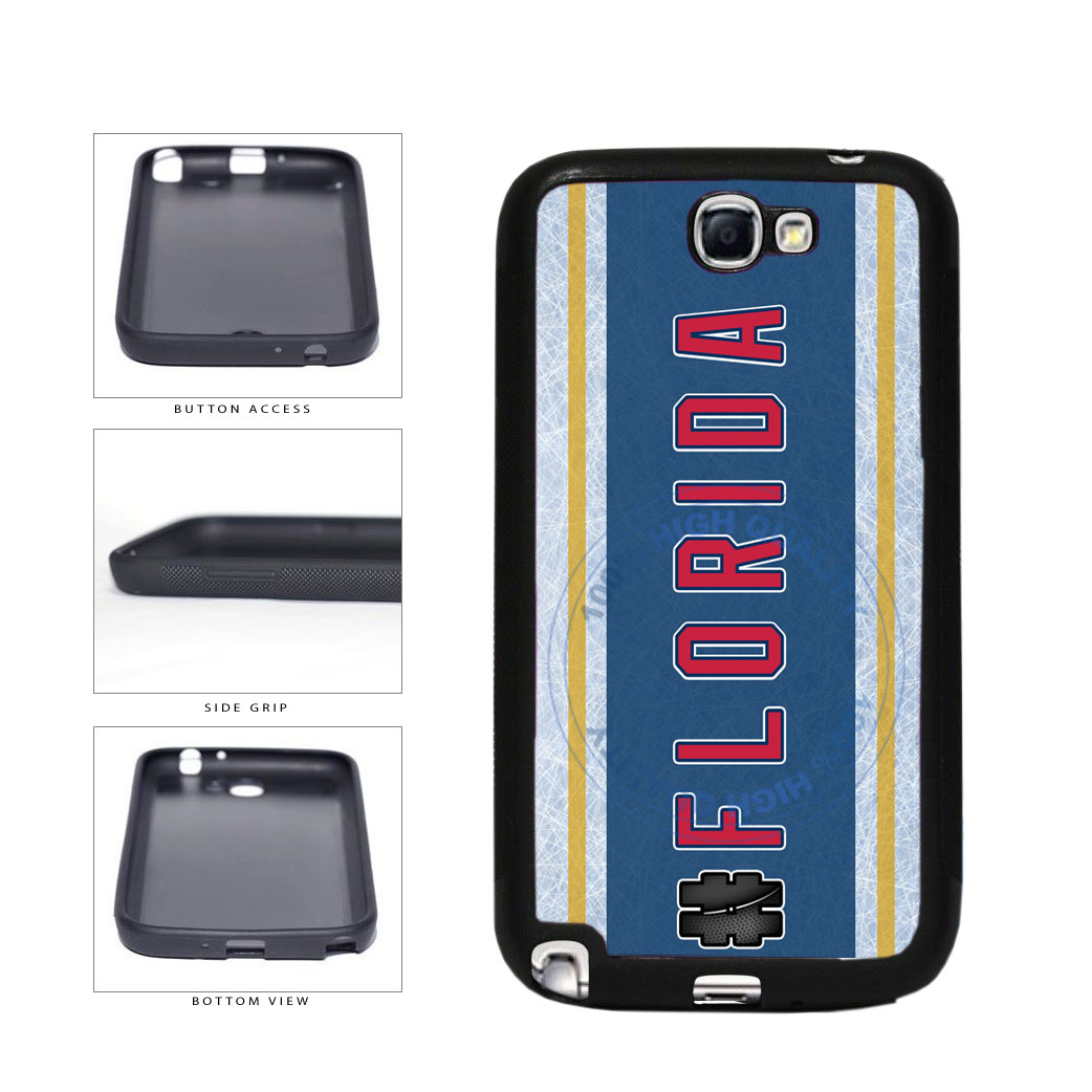 Hockey Team Hashtag Florida #Florida TPU Rubber SILICONE Phone Case Back Cover For Samsung Galaxy Note II 2 N7100 includes BleuReign(TM) Cloth and Warranty Label