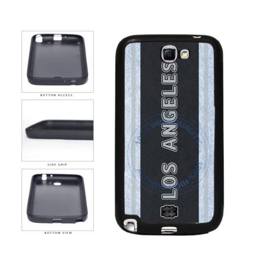 Hockey Team Hashtag Los Angeles #LosAngeles TPU Rubber SILICONE Phone Case Back Cover For Samsung Galaxy Note II 2 N7100 includes BleuReign(TM) Cloth and Warranty Label