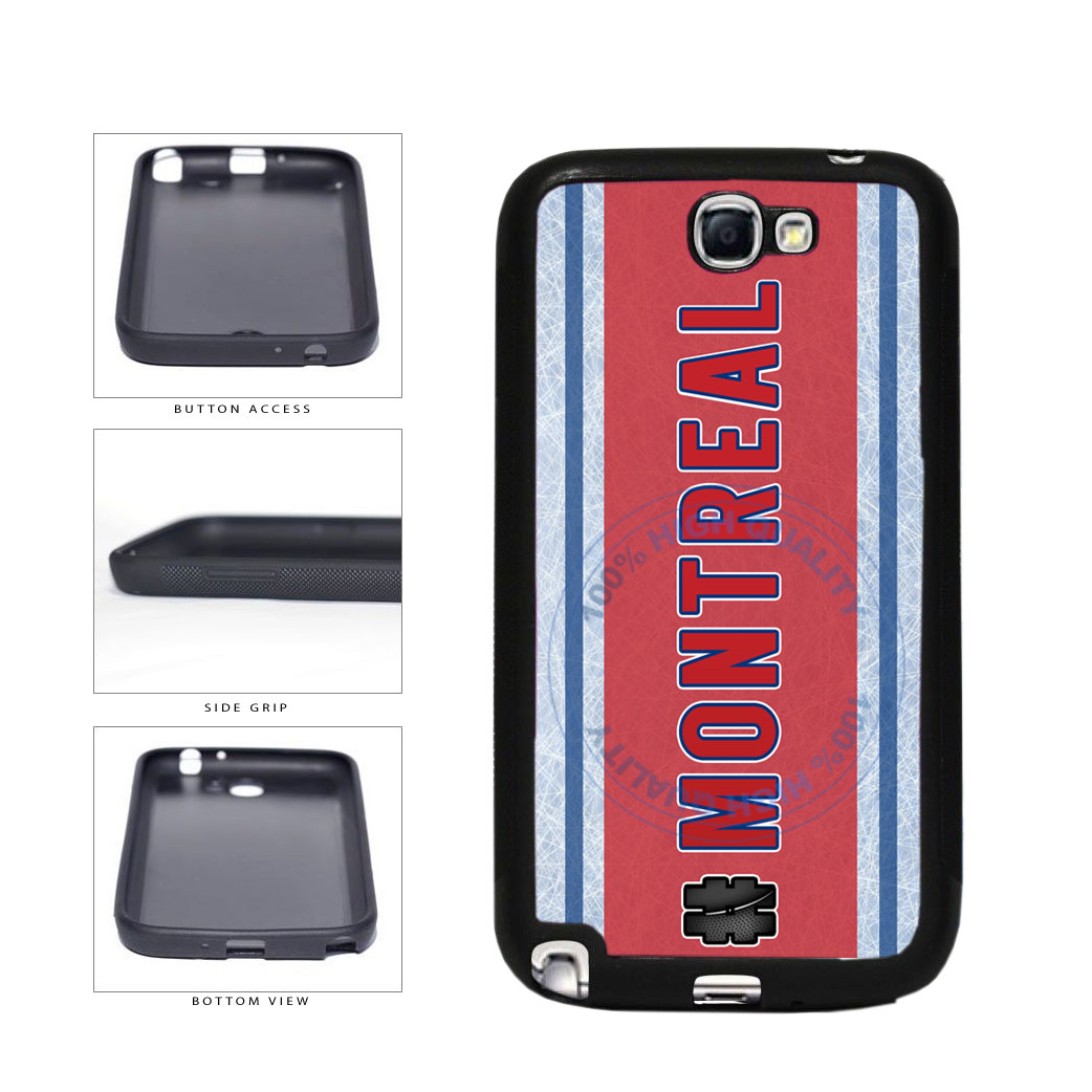 Hockey Team Hashtag Montreal #Montreal TPU Rubber SILICONE Phone Case Back Cover For Samsung Galaxy Note II 2 N7100 includes BleuReign(TM) Cloth and Warranty Label