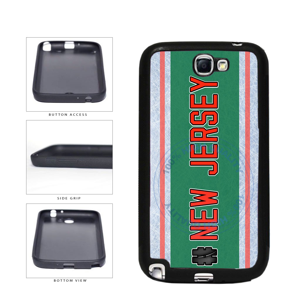 Hockey Team Hashtag New Jersey #NewJersey TPU Rubber SILICONE Phone Case Back Cover For Samsung Galaxy Note II 2 N7100 includes BleuReign(TM) Cloth and Warranty Label