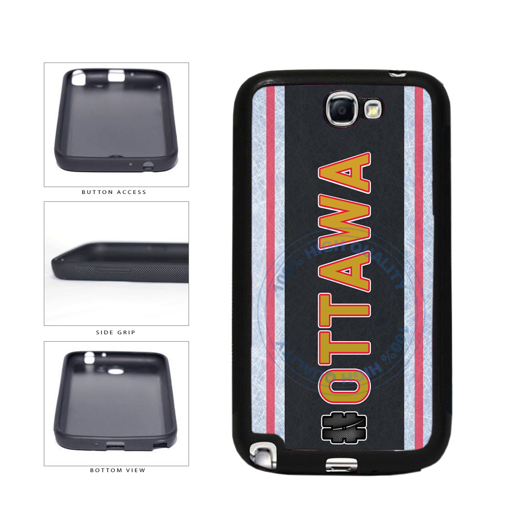 Hockey Team Hashtag Ottawa #Ottawa TPU Rubber SILICONE Phone Case Back Cover For Samsung Galaxy Note II 2 N7100 includes BleuReign(TM) Cloth and Warranty Label
