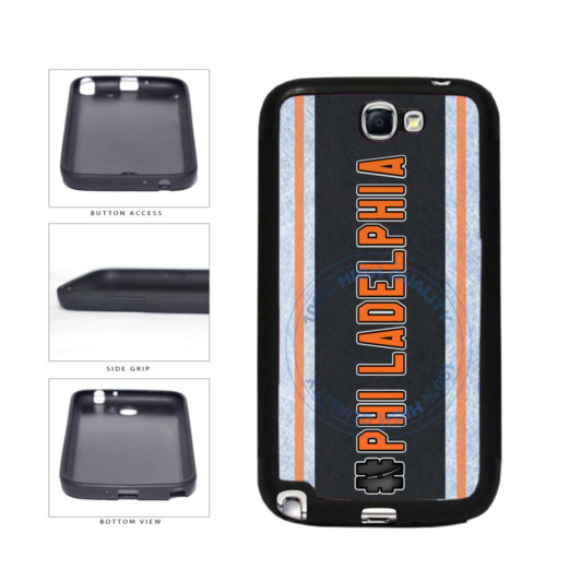 Hockey Team Hashtag Philadelphia #Philadelphia TPU Rubber SILICONE Phone Case Back Cover For Samsung Galaxy Note II 2 N7100 includes BleuReign(TM) Cloth and Warranty Label