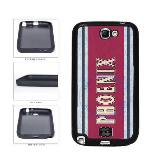 Hockey Team Hashtag Phoenix #Phoenix TPU Rubber SILICONE Phone Case Back Cover For Samsung Galaxy Note II 2 N7100 includes BleuReign(TM) Cloth and Warranty Label