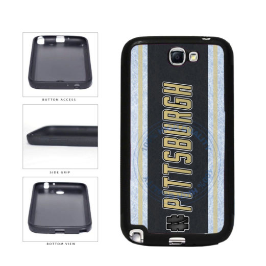 Hockey Team Hashtag Pittsburgh #Pittsburgh TPU Rubber SILICONE Phone Case Back Cover For Samsung Galaxy Note II 2 N7100 includes BleuReign(TM) Cloth and Warranty Label