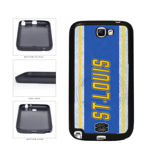 Hockey Team Hashtag St Louis #StLouis TPU Rubber SILICONE Phone Case Back Cover For Samsung Galaxy Note II 2 N7100 includes BleuReign(TM) Cloth and Warranty Label