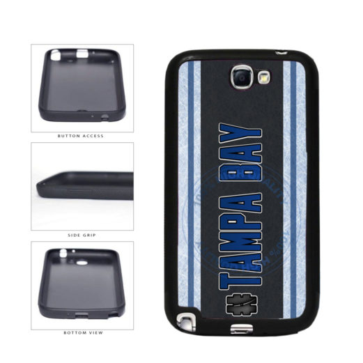 Hockey Team Hashtag Tampa Bay #TampaBay TPU Rubber SILICONE Phone Case Back Cover For Samsung Galaxy Note II 2 N7100 includes BleuReign(TM) Cloth and Warranty Label
