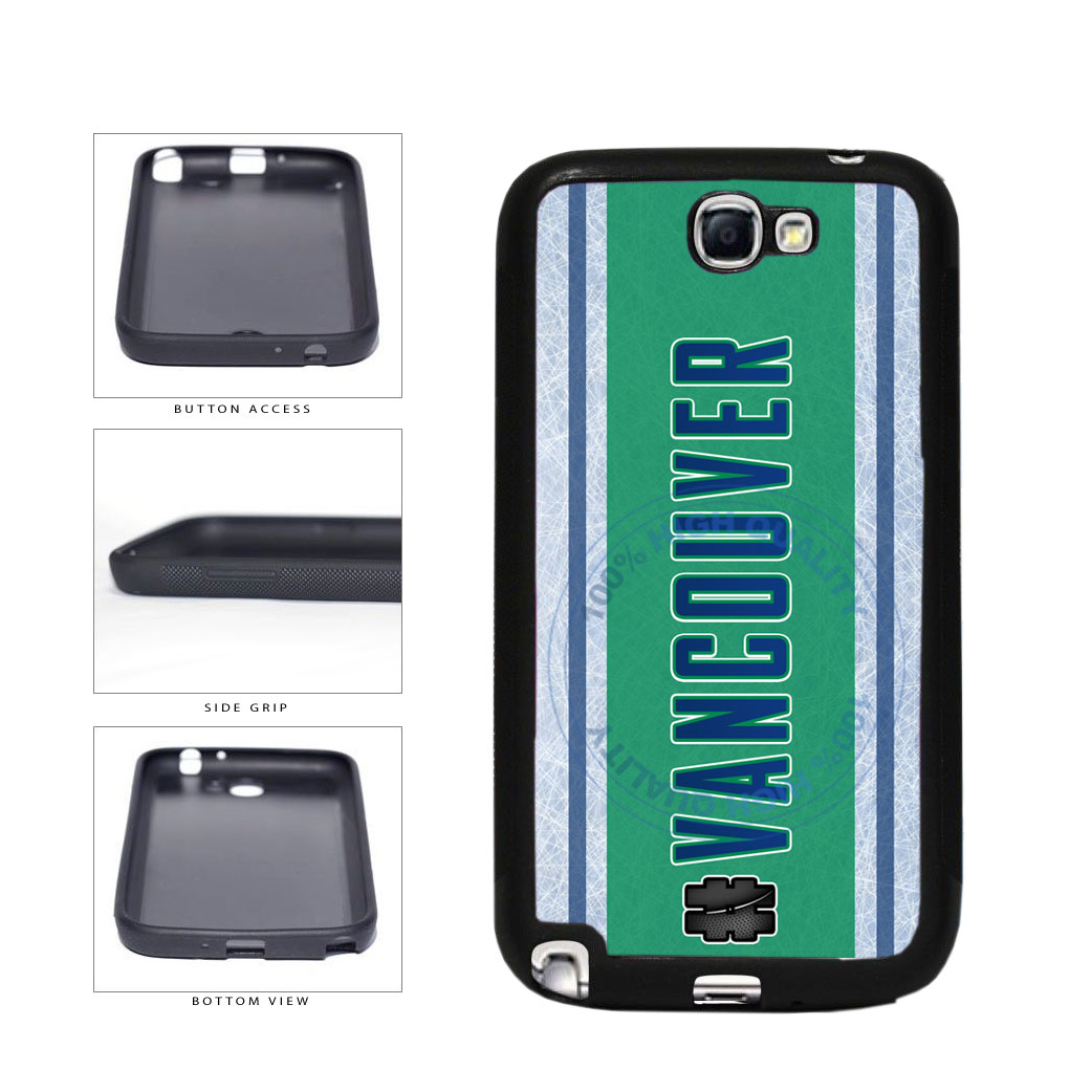 Hockey Team Hashtag Vancouver #Vancouver TPU Rubber SILICONE Phone Case Back Cover For Samsung Galaxy Note II 2 N7100 includes BleuReign(TM) Cloth and Warranty Label