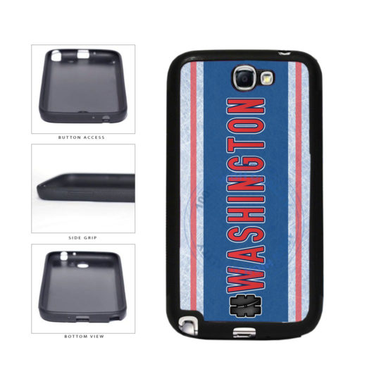 Hockey Team Hashtag Washington #Washington TPU Rubber SILICONE Phone Case Back Cover For Samsung Galaxy Note II 2 N7100 includes BleuReign(TM) Cloth and Warranty Label