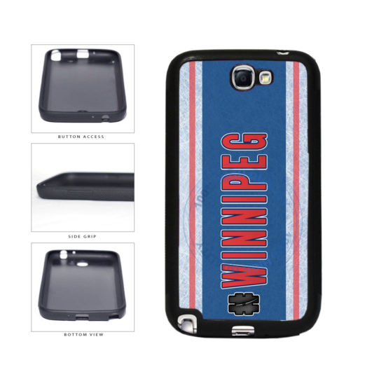 Hockey Team Hashtag Winnipeg #Winnipeg TPU Rubber SILICONE Phone Case Back Cover For Samsung Galaxy Note II 2 N7100 includes BleuReign(TM) Cloth and Warranty Label