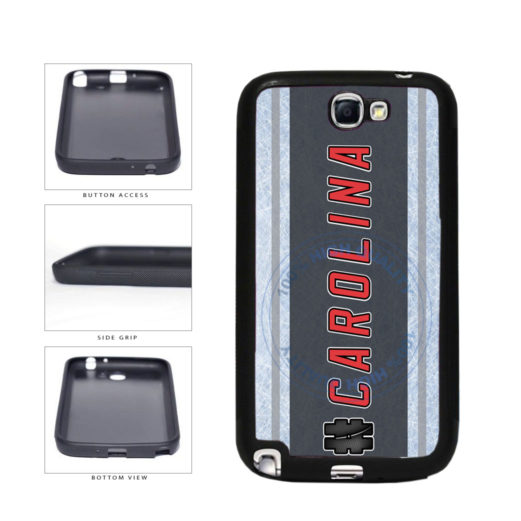 Hockey Team Hashtag Carolina #Carolina TPU Rubber SILICONE Phone Case Back Cover For Samsung Galaxy Note II 2 N7100 includes BleuReign(TM) Cloth and Warranty Label