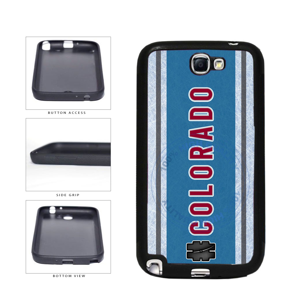 Hockey Team Hashtag Colorado #Colorado TPU Rubber SILICONE Phone Case Back Cover For Samsung Galaxy Note II 2 N7100 includes BleuReign(TM) Cloth and Warranty Label