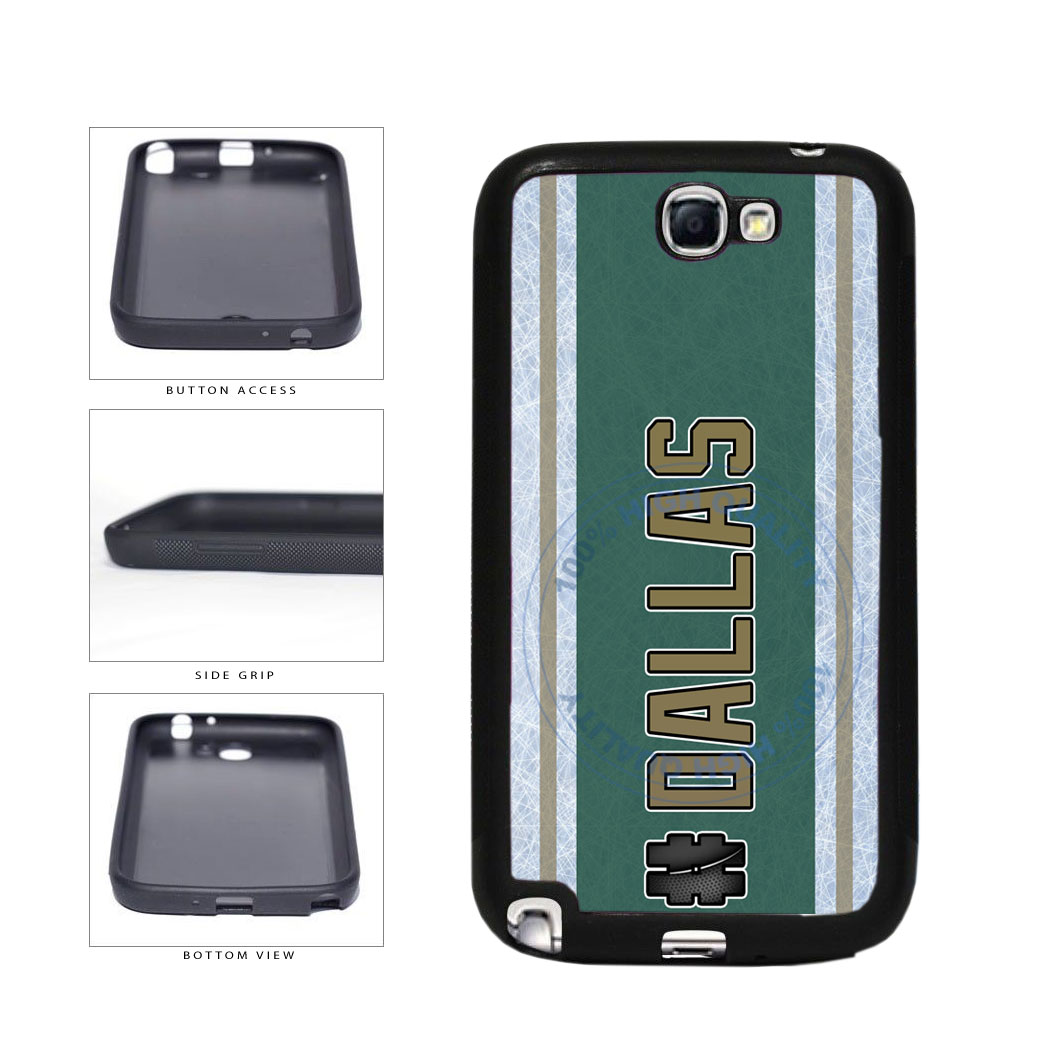 Hockey Team Hashtag Dallas #Dallas TPU Rubber SILICONE Phone Case Back Cover For Samsung Galaxy Note II 2 N7100 includes BleuReign(TM) Cloth and Warranty Label