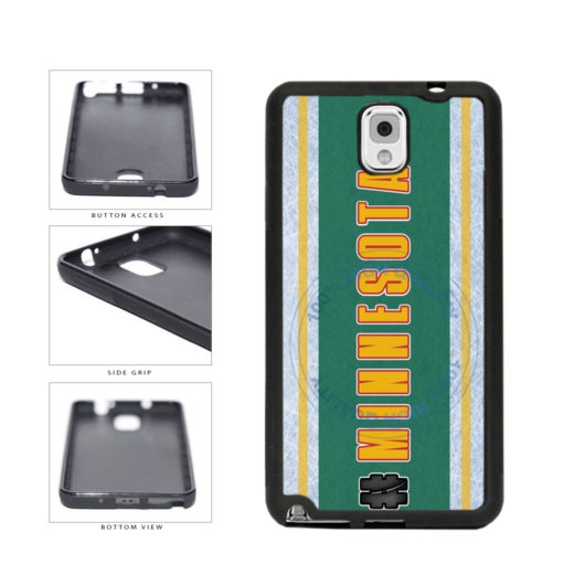 Hockey Team Hashtag Minnesota #Minnesota TPU Rubber SILICONE Phone Case Back Cover For Samsung Galaxy Note III 3 N9002 includes BleuReign(TM) Cloth and Warranty Label
