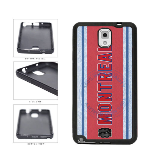 Hockey Team Hashtag Montreal #Montreal TPU Rubber SILICONE Phone Case Back Cover For Samsung Galaxy Note III 3 N9002 includes BleuReign(TM) Cloth and Warranty Label