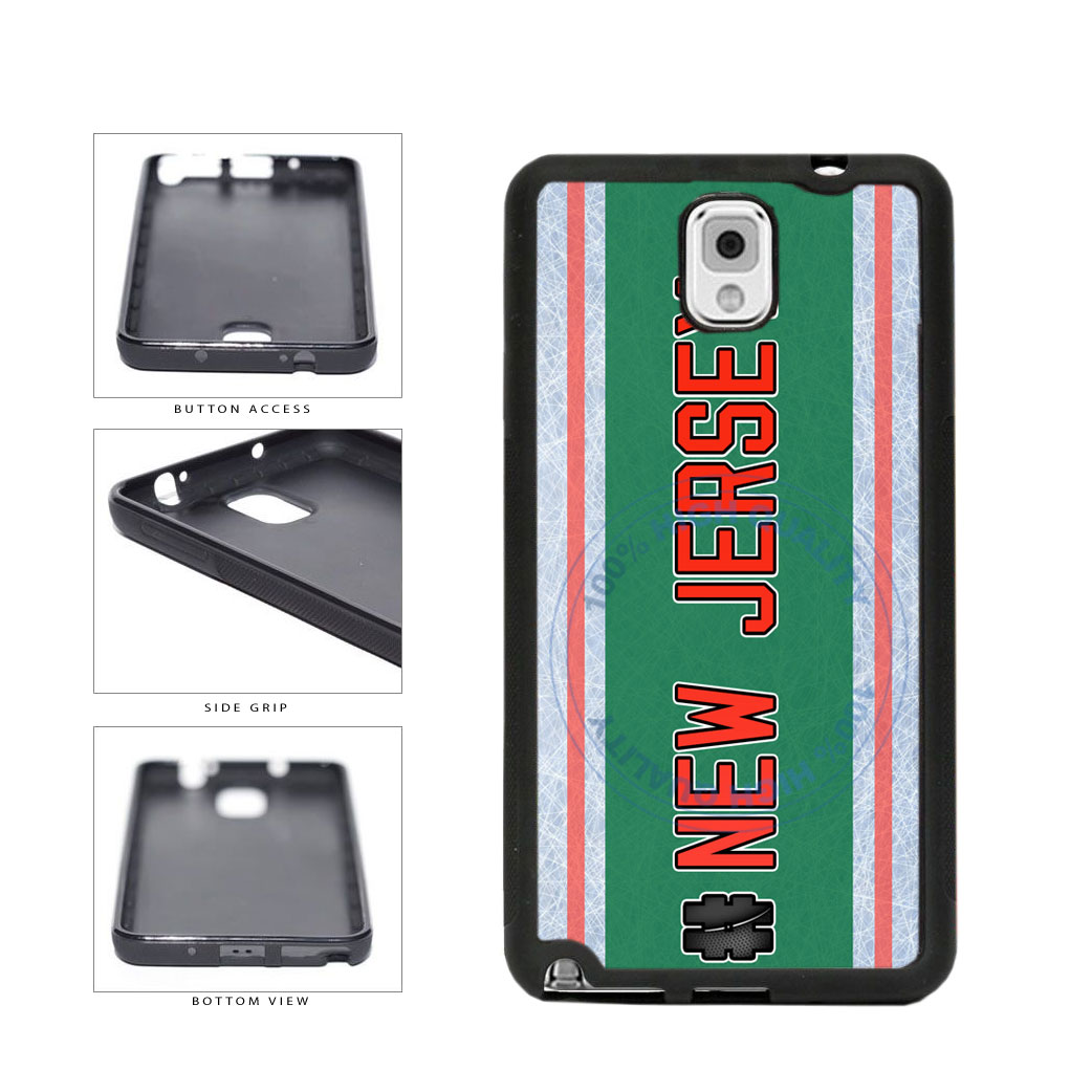 Hockey Team Hashtag New Jersey #NewJersey TPU Rubber SILICONE Phone Case Back Cover For Samsung Galaxy Note III 3 N9002 includes BleuReign(TM) Cloth and Warranty Label