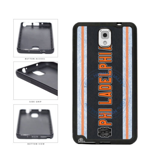 Hockey Team Hashtag Philadelphia #Philadelphia TPU Rubber SILICONE Phone Case Back Cover For Samsung Galaxy Note III 3 N9002 includes BleuReign(TM) Cloth and Warranty Label