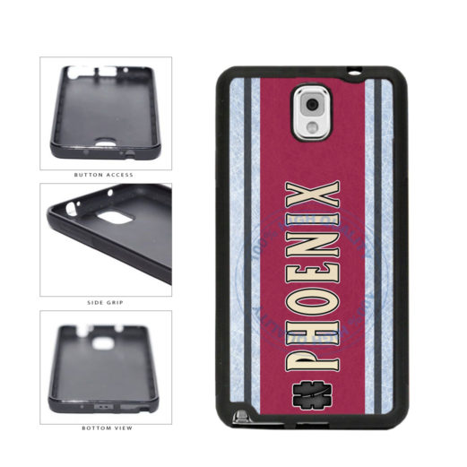 Hockey Team Hashtag Phoenix #Phoenix TPU Rubber SILICONE Phone Case Back Cover For Samsung Galaxy Note III 3 N9002 includes BleuReign(TM) Cloth and Warranty Label