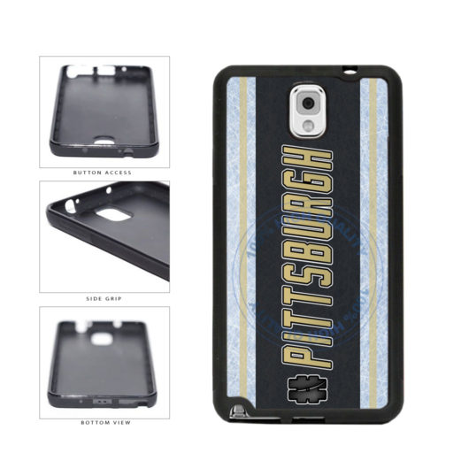 Hockey Team Hashtag Pittsburgh #Pittsburgh TPU Rubber SILICONE Phone Case Back Cover For Samsung Galaxy Note III 3 N9002 includes BleuReign(TM) Cloth and Warranty Label
