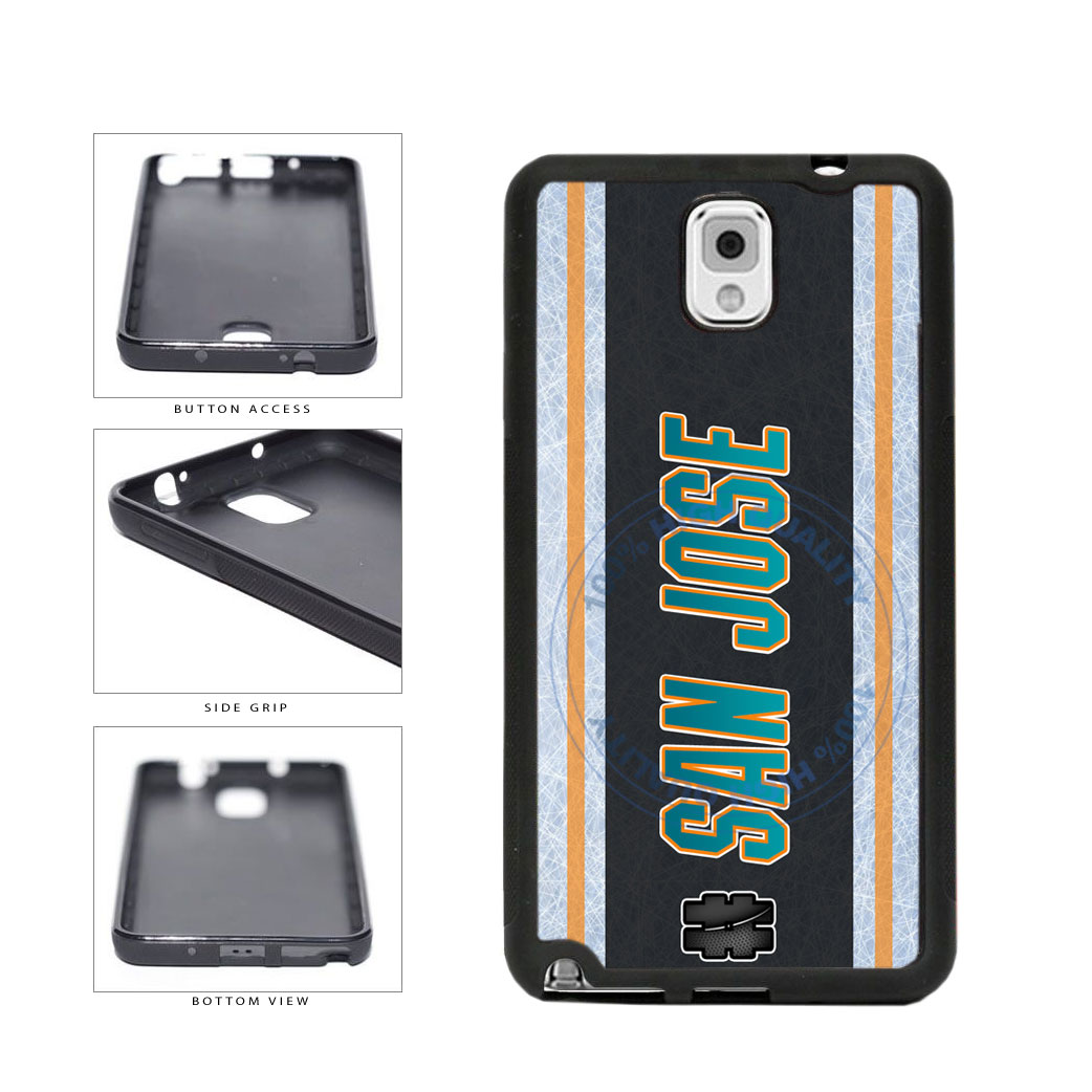 Hockey Team Hashtag San Jose #SanJose TPU Rubber SILICONE Phone Case Back Cover For Samsung Galaxy Note III 3 N9002 includes BleuReign(TM) Cloth and Warranty Label