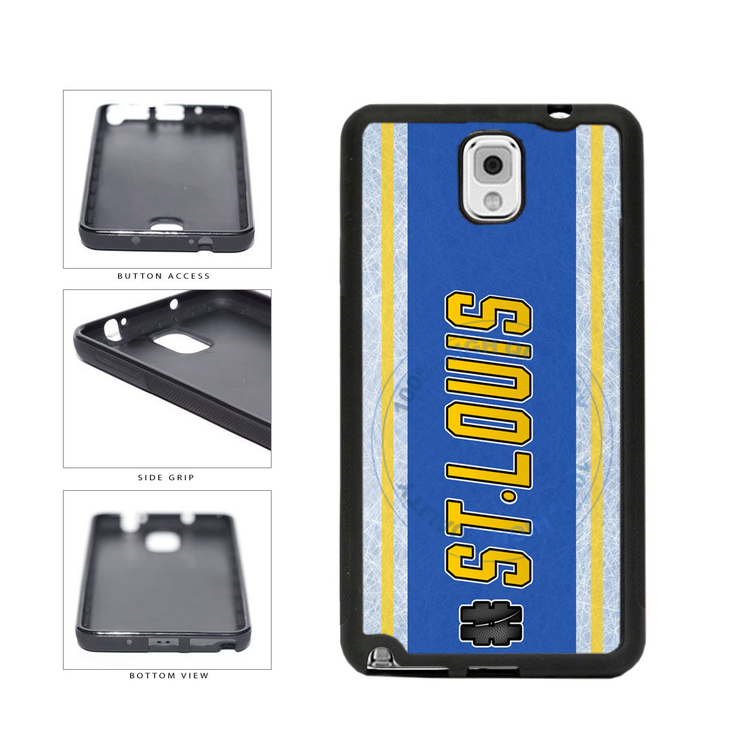 Hockey Team Hashtag St Louis #StLouis TPU Rubber SILICONE Phone Case Back Cover For Samsung Galaxy Note III 3 N9002 includes BleuReign(TM) Cloth and Warranty Label