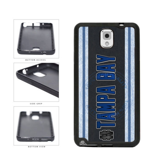 Hockey Team Hashtag Tampa Bay #TampaBay TPU Rubber SILICONE Phone Case Back Cover For Samsung Galaxy Note III 3 N9002 includes BleuReign(TM) Cloth and Warranty Label
