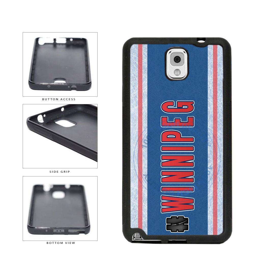 Hockey Team Hashtag Winnipeg #Winnipeg TPU Rubber SILICONE Phone Case Back Cover For Samsung Galaxy Note III 3 N9002 includes BleuReign(TM) Cloth and Warranty Label