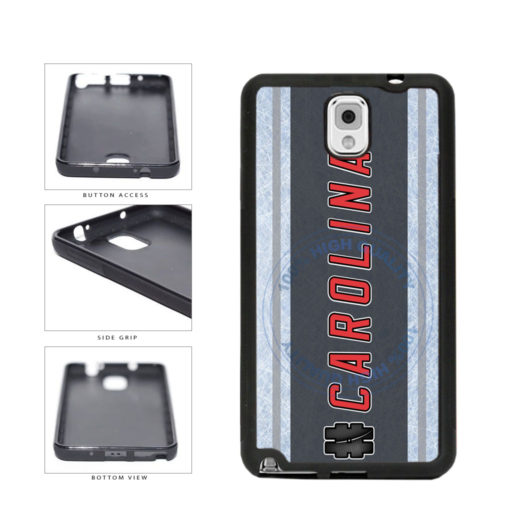 Hockey Team Hashtag Carolina #Carolina TPU Rubber SILICONE Phone Case Back Cover For Samsung Galaxy Note III 3 N9002 includes BleuReign(TM) Cloth and Warranty Label