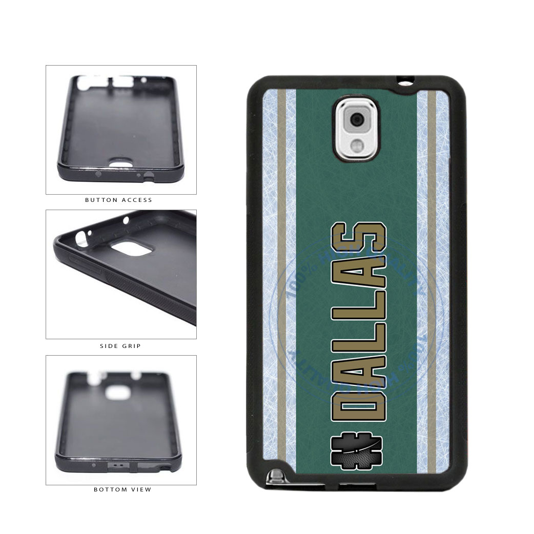 Hockey Team Hashtag Dallas #Dallas TPU Rubber SILICONE Phone Case Back Cover For Samsung Galaxy Note III 3 N9002 includes BleuReign(TM) Cloth and Warranty Label
