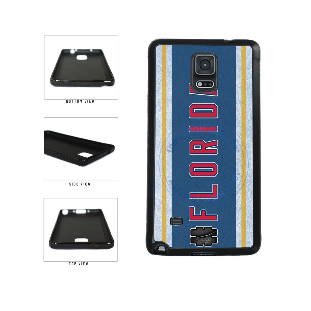 Hockey Team Hashtag Florida #Florida TPU Rubber SILICONE Phone Case Back Cover For Samsung Galaxy Note IV 4 N910 includes BleuReign(TM) Cloth and Warranty Label