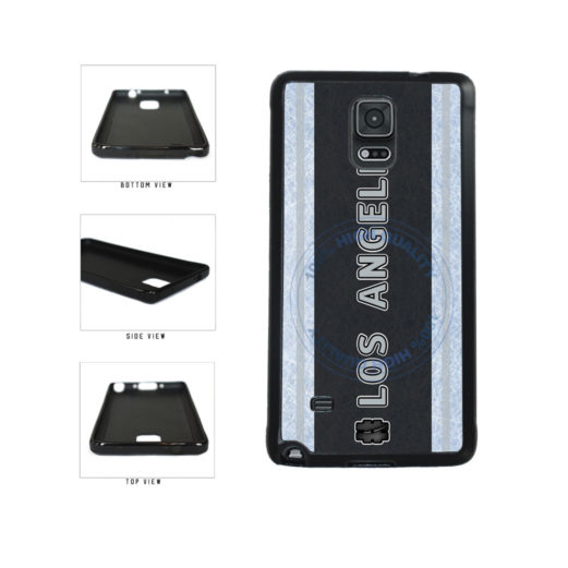 Hockey Team Hashtag Los Angeles #LosAngeles TPU Rubber SILICONE Phone Case Back Cover For Samsung Galaxy Note IV 4 N910 includes BleuReign(TM) Cloth and Warranty Label
