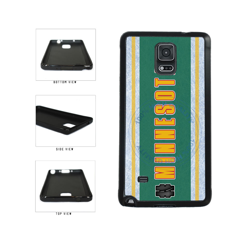 Hockey Team Hashtag Minnesota #Minnesota TPU Rubber SILICONE Phone Case Back Cover For Samsung Galaxy Note IV 4 N910 includes BleuReign(TM) Cloth and Warranty Label