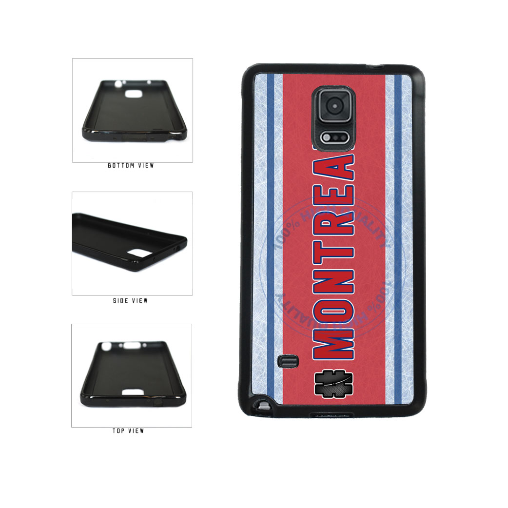 Hockey Team Hashtag Montreal #Montreal TPU Rubber SILICONE Phone Case Back Cover For Samsung Galaxy Note IV 4 N910 includes BleuReign(TM) Cloth and Warranty Label