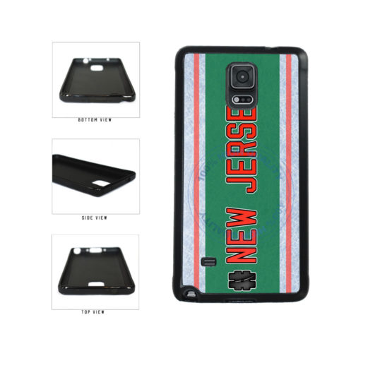 Hockey Team Hashtag New Jersey #NewJersey TPU Rubber SILICONE Phone Case Back Cover For Samsung Galaxy Note IV 4 N910 includes BleuReign(TM) Cloth and Warranty Label